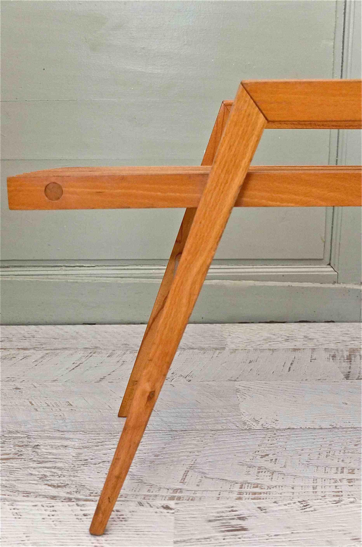 Slavia vintage mobilier vintage tablette des ann es 60 for Pieds de meuble en bois