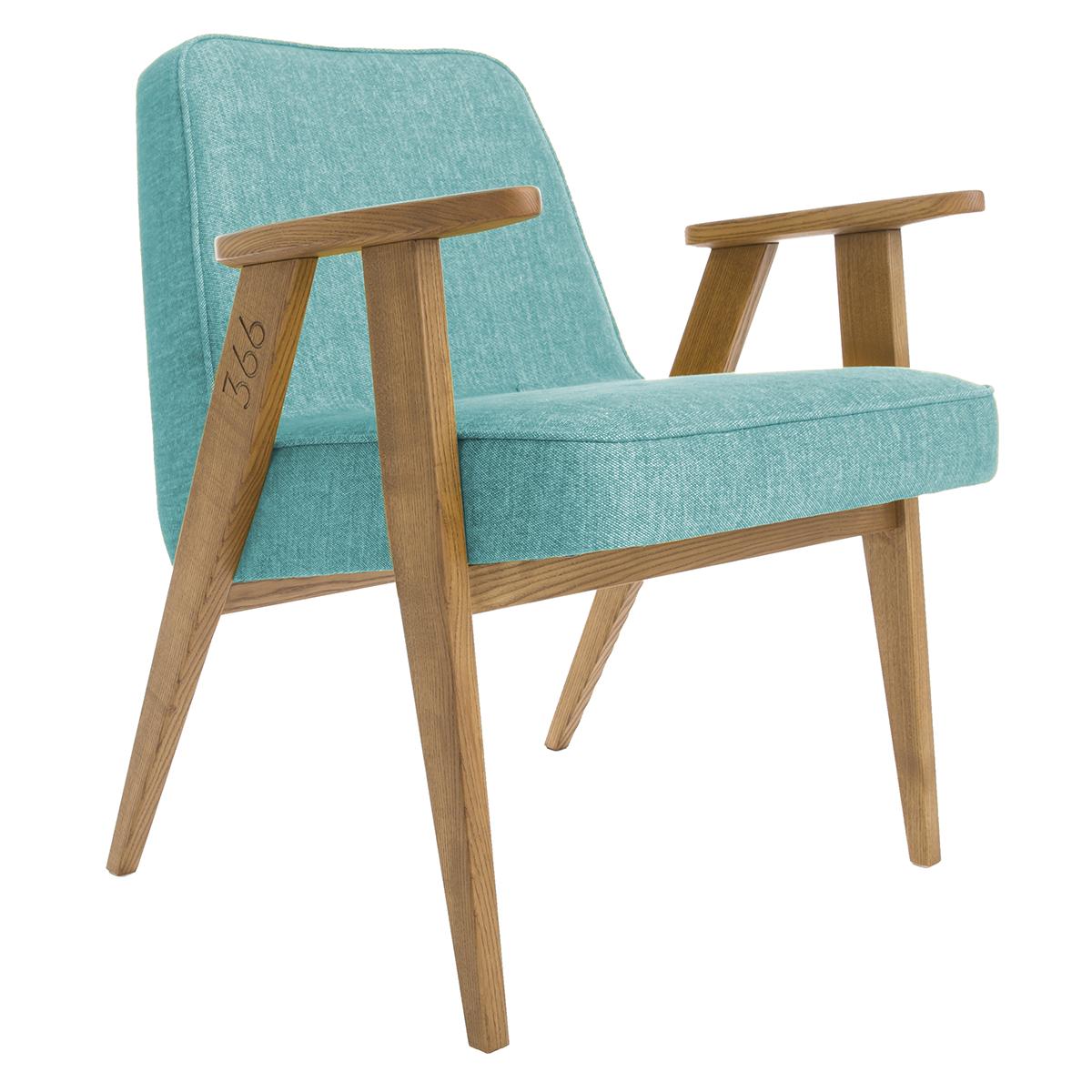 slavia vintage r ditions fauteuil 366 jozef chierowski 366 concept loft turquoise. Black Bedroom Furniture Sets. Home Design Ideas