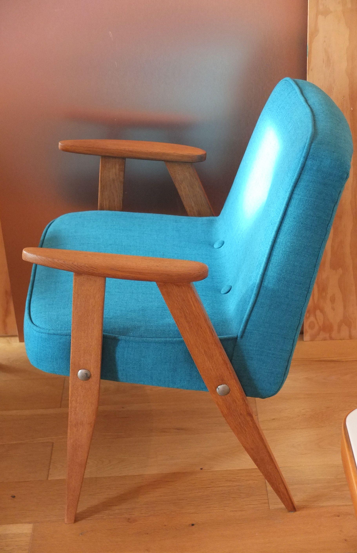slavia vintage mobilier vintage fauteuil 366 des ann es 60 de jozef chierowski retapiss. Black Bedroom Furniture Sets. Home Design Ideas