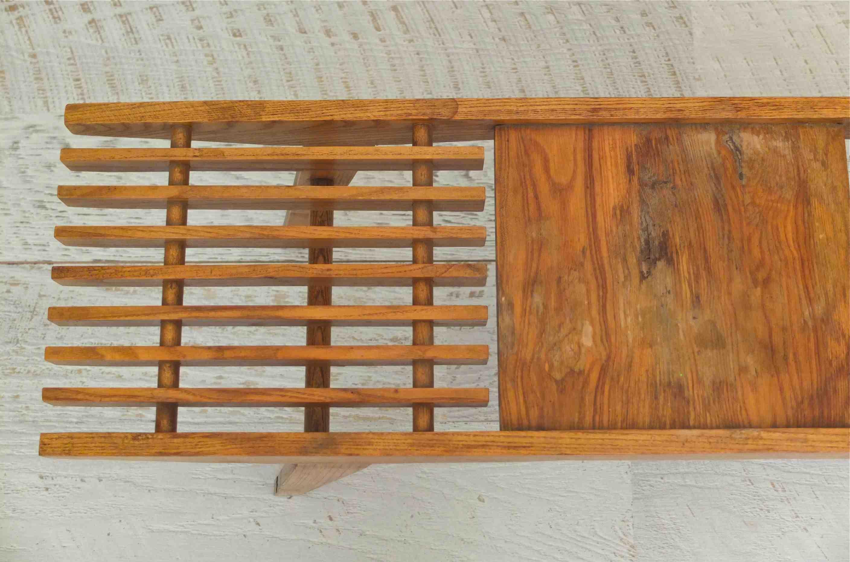slavia vintage mobilier vintage table en bois pieds compas chamonix. Black Bedroom Furniture Sets. Home Design Ideas