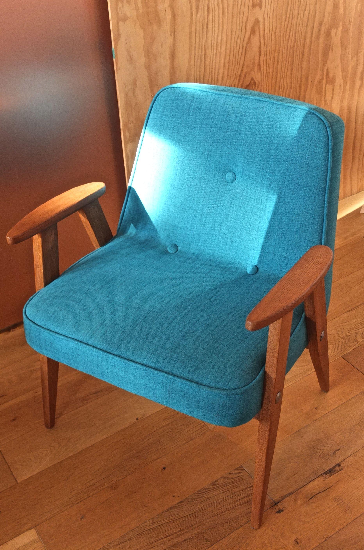 Slavia vintage mobilier vintage fauteuil 366 des - Fauteuil turquoise contemporain ...