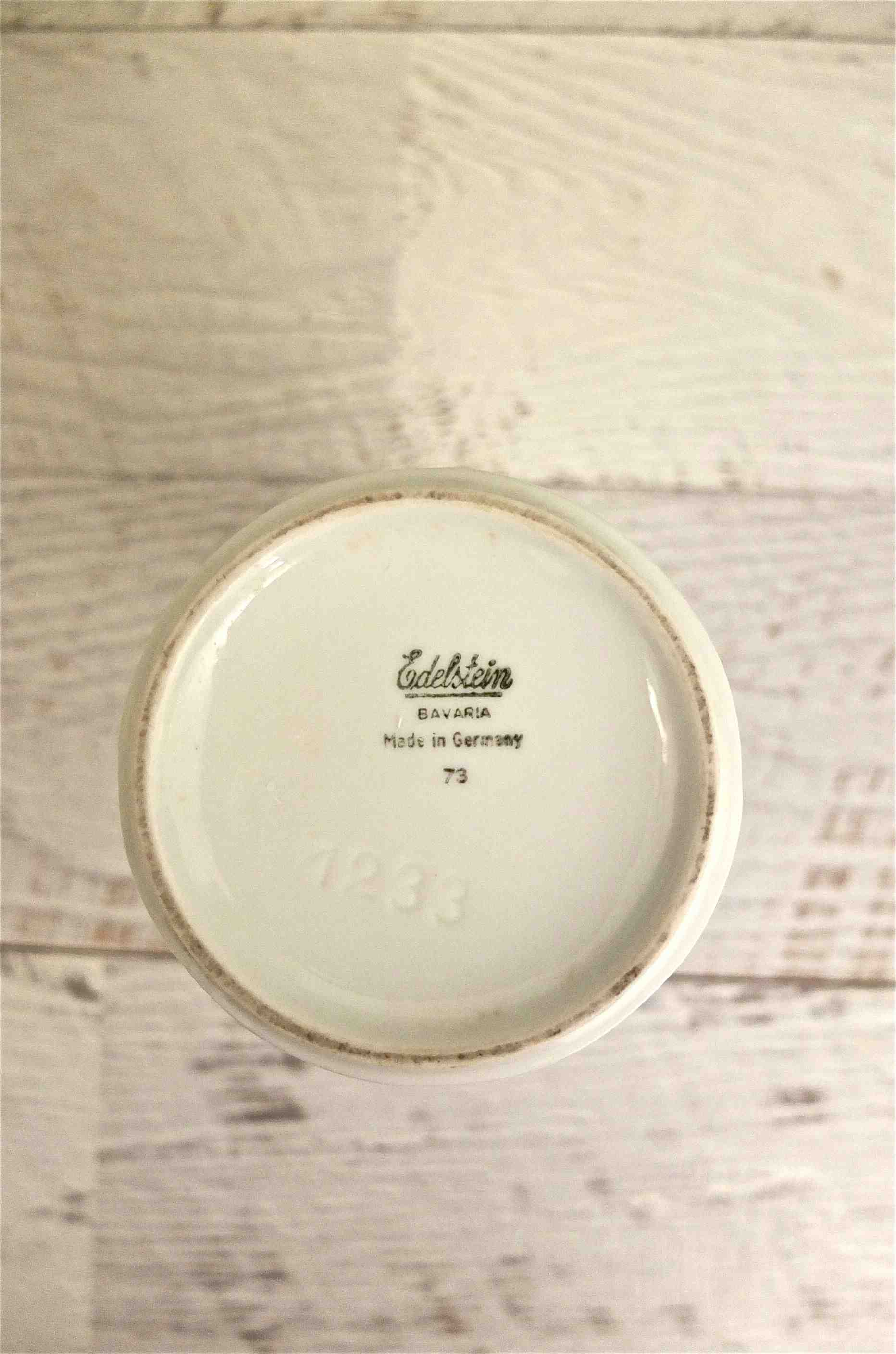 Slavia vintage inscription vase blanc allemand Ulma