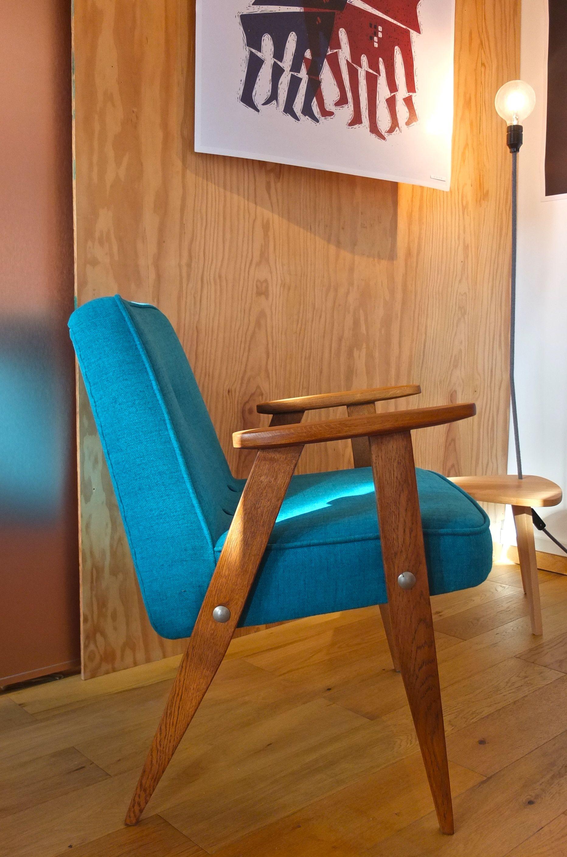 slavia vintage - mobilier vintage - fauteuil 366 des années 60 de
