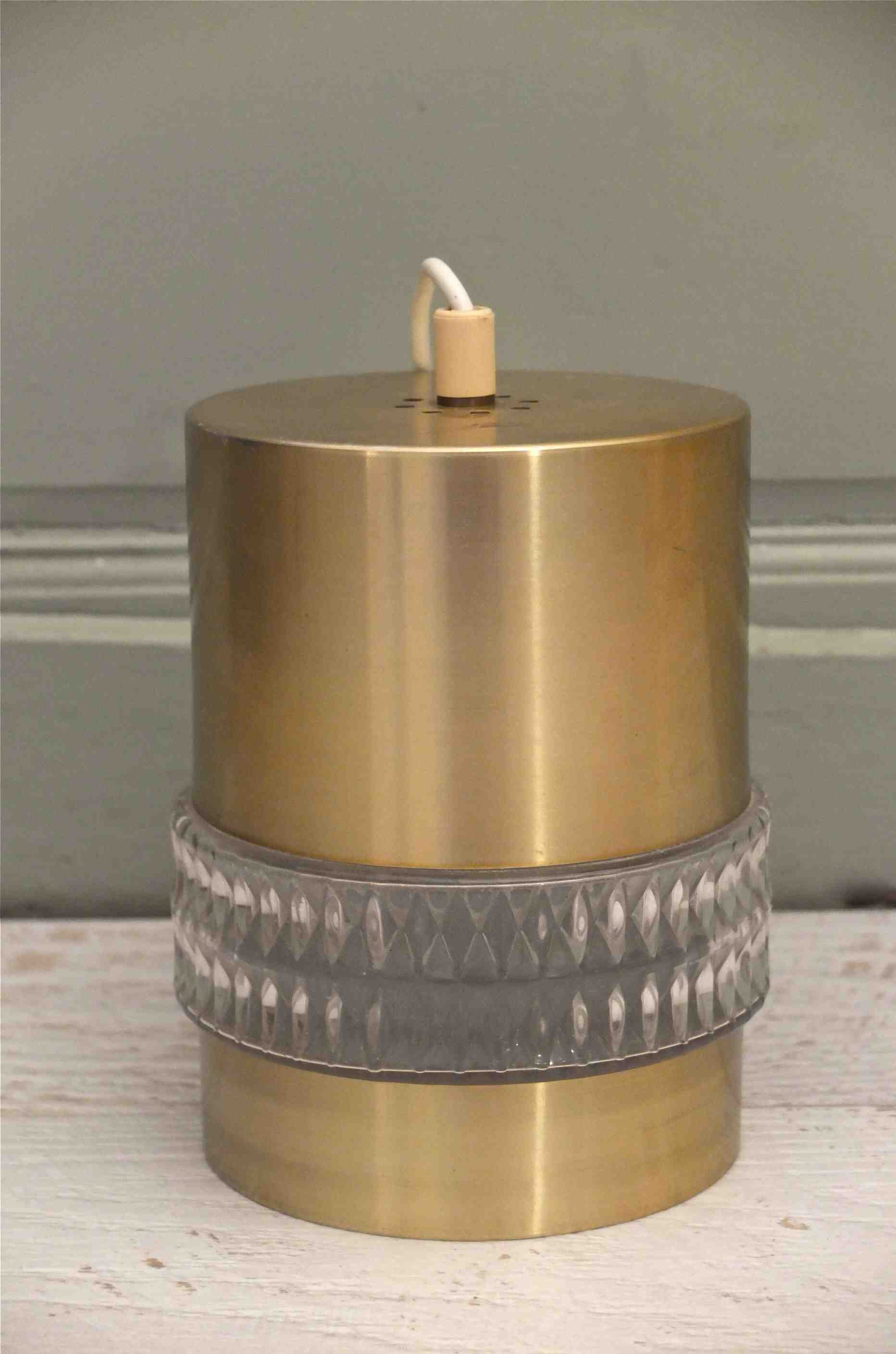 "Slavia Vintage lampe doree des annees 70 ""Golden"" photo generale"