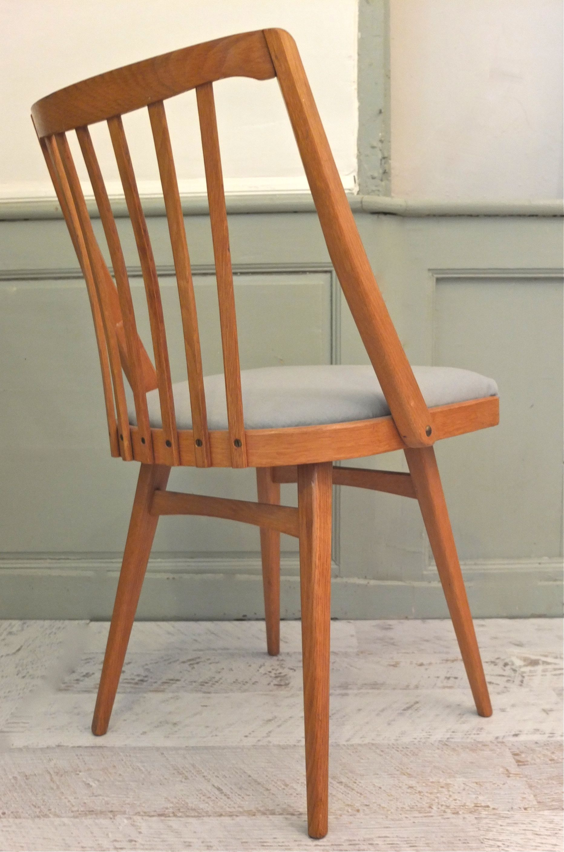 slavia vintage jouets lot de 4 chaises de style scandinave ton aero. Black Bedroom Furniture Sets. Home Design Ideas