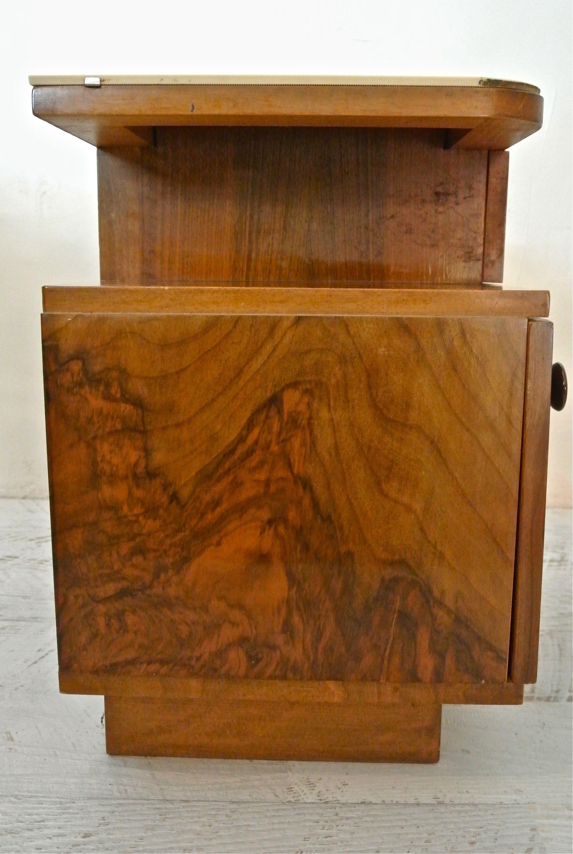 Slavia vintage mobilier vintage table de chevet - Table de chevet art deco ...