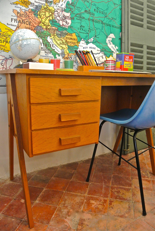 Slavia vintage mobilier vintage bureau moderniste for Meuble bureau bordeaux
