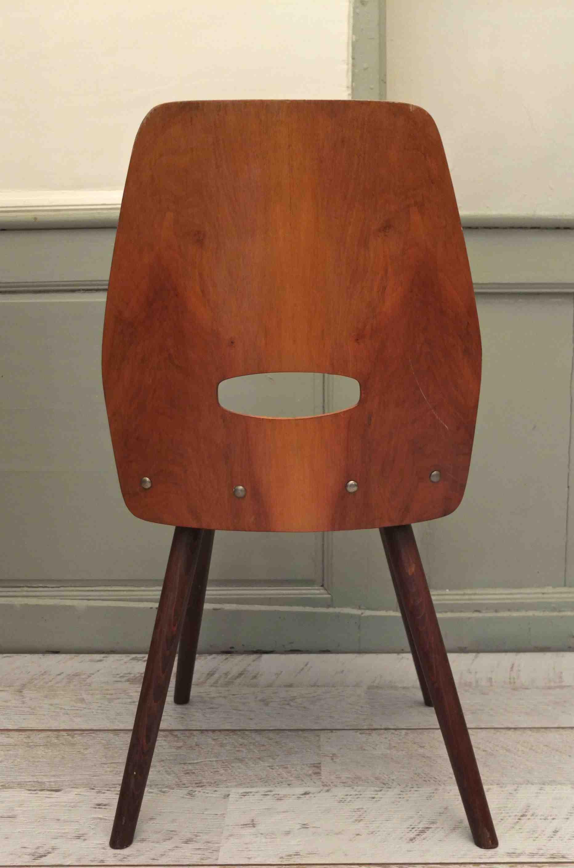 slavia vintage - jouets - chaise en bois courbé des années 50 tatra
