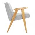 fauteuil 366 - Jozef chierowski - 366 Concept - loft - chiné light silver teinte chêne - design polonais