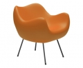 design polonais - roman modzelewski - fauteuil RM58 mat - orange  - vzor