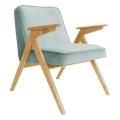 fauteuil bunny - 366 concept - velvet - velours menthe teinte chêne - design polonais