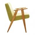 """fauteuil """"366 """" Jozef Chierowski - 366 Concept -  tweed lemon teinte chêne"""