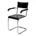 chaise fonctionnaliste avec accoudoirs K10 - Slezakovy Zavody - design tchèque