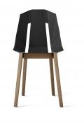 """tabanda -  chaise """"Diago""""  noir - RAL 9004 - design polonais"""