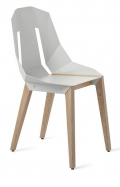 "tabanda - chaise ""Diago""  blanc gris - RAL 9018 - design polonais"