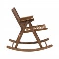 Rocking chair - noyer - design slovène - Rex Krajl