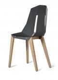 tabanda-design polonais-chaise Felt Diago-feutre/graphite