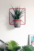 Porte-plantes mural rouge - design polonais - Elementuj