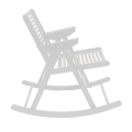 Rocking chair - blanc - design slovène - Rex Krajl