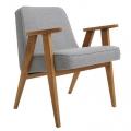 fauteuil 366 - Jozef Chierowski - 366 Concept - tweed gris teinte chêne foncé - design polonais