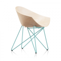 Fauteuil  RM56 WOOD - pieds turquoise