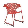 Fauteuil  GRID 55 - résille métal rouge