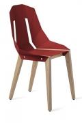 """tabanda - chaise """"Diago"""" rouge corail - RAL 3000 - design polonais"""