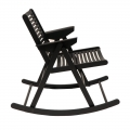 Rocking chair - noir - design slovène - Rex Krajl