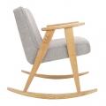 "rocking chair ""366"" - Jozef Chierowski- 366 concept - loft - chiné silver  teinte chêne - design polonais"