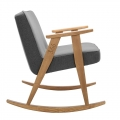 "rocking chair ""366"" - Jozef Chierowski - 366 Concept - tweed noir teinte chêne - design polonais"