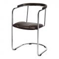 chaise fonctionnaliste en cuir K35 - Slezakovy Zavody - design tchèque