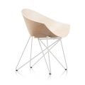 Fauteuil  RM56 WOOD - pieds  blanc