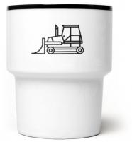"""mug en porcelaine """"Spychacz"""" / bulldozer - mamsam - graphisme polonais"""
