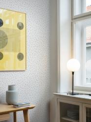 LAVMI - design tchèque - Papier peint Atoms - jaune