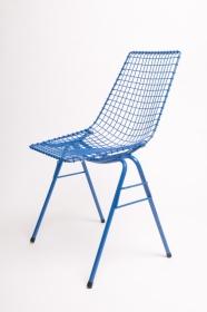 design polonais - chaise Henryk Sztaba - bleue - Mamsam