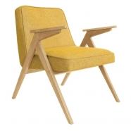 fauteuil bunny - 366 concept - loft - chiné moutarde teinte chêne - design polonais
