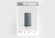 Londres brutaliste -  maquette Space House - Zupagrafika