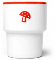 """design polonais - mamsam - mug en porcelaine """"champignon"""" - graphisme polonais"""