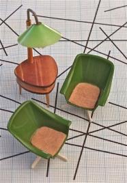 """Jouets des années 60 / maquette  de style Mid-century """"Sterling"""""""
