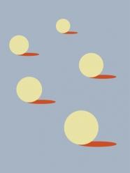 """lavmi - design tchèque - petit mural """"sunny"""" (deux couleurs disponibles)"""