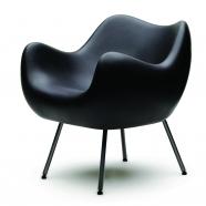 design polonais - roman modzelewski - fauteuil RM58 mat - noir - vzor
