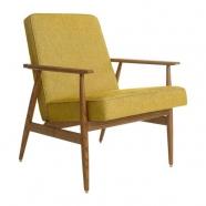 fauteuil fox - H. LIS - 366 concept - loft chiné moutarde - teinte chêne foncé - design polonais