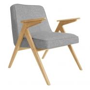 fauteuil bunny - 366 concept - loft silver chiné teinte chêne - design polonais