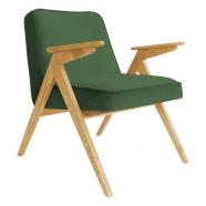 fauteuil bunny - 366 concept - velvet - velours vert bouteille teinte chêne - design polonais