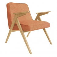 fauteuil bunny - 366 concept - loft - chiné mandarine teinte chêne - design polonais