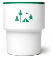 """mamsam - mug en porcelaine """"camping"""" - graphisme polonais"""