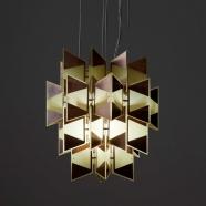 design tchèque - suspension d'inspiration néo-cubiste du studio vjemy