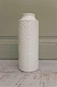 """Vase  blanc allemand  en porcelaine des années 60 """"Ulma"""""""