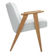 """fauteuil """"366"""" - Jozef Chierowski par 366 Concept - Tweed mentos  piètement teinte chêne foncé - design polonais"""
