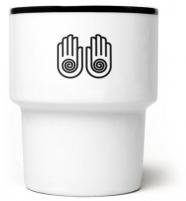mamsam - mug en porcelaine Hands- graphisme polonais
